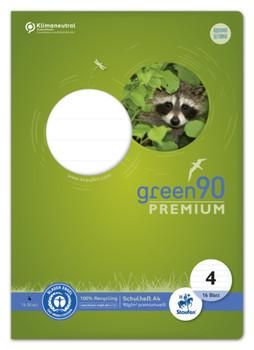Ursus green Heft - LIN4, A4, 16 Blatt, 90 g/qm, 10 mm liniert
