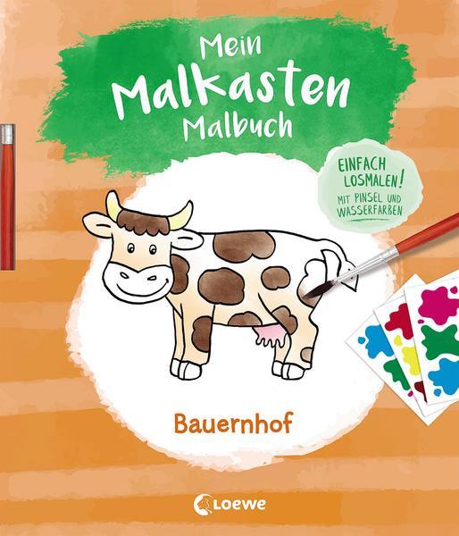 Mein Malkasten-Malbuch - Bauernhof Einfach losmalen! Mit Pinsel und Wasserfarben