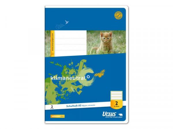 Ursus Basic Schulheft Din A5 Lineatur 2. Klasse 16 Blatt