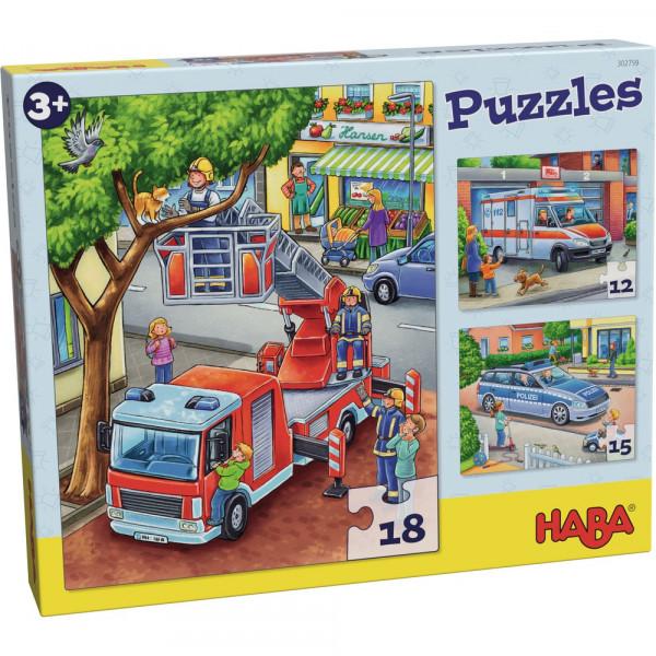 Puzzles. Polizei, Feuerwehr & Co