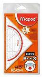 Maped® Geo-Dreieck Flex - 16 cm, transparent, Etui