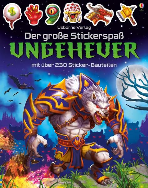 Der große Stickerspaß: Ungeheuer