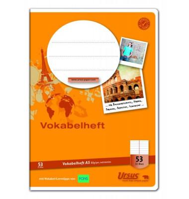 Ursus Vokabelheft Basic A5 Lineatur 53 liniert 2 Spalten weiß 32 Blatt