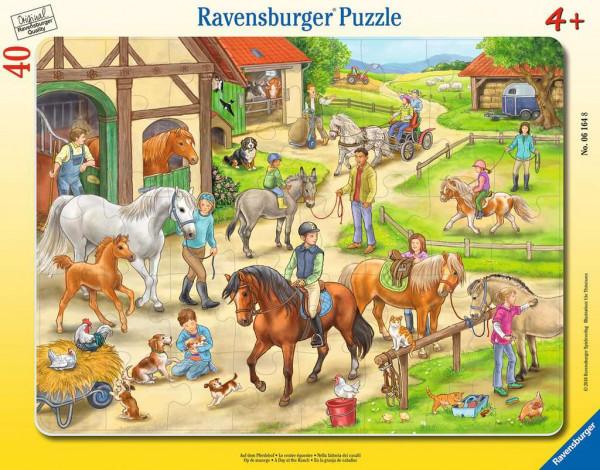 Auf dem Pferdehof - Rahmenpuzzle