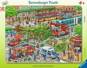 Einsatz auf der Straße - Rahmenpuzzle