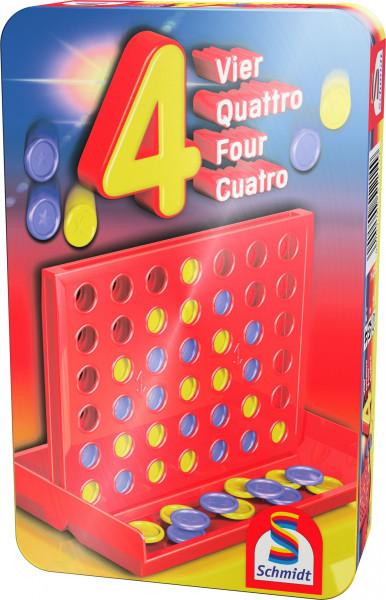 4 (Vier). Mitbringspiel in Metalldose