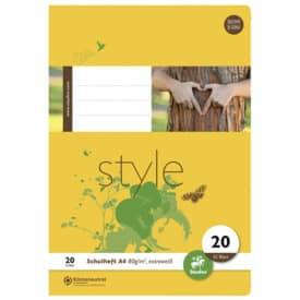 Ursus Schulheft Basic A4 Lineatur 20 blanko weiß 32 Blatt