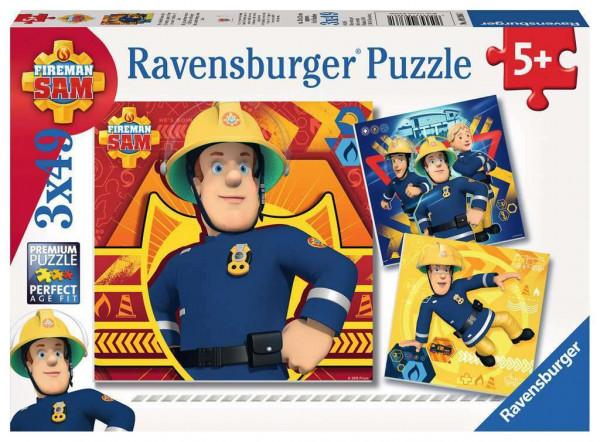 Bei Gefahr Sam anrufen, Puzzle, 3 x 49 Teile