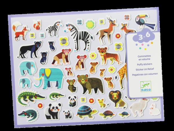 Sticker im Relief - Tiere im Zoo