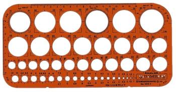 Standardgraph Kreisschablone Ø 1-36 mm (45 Kreise)