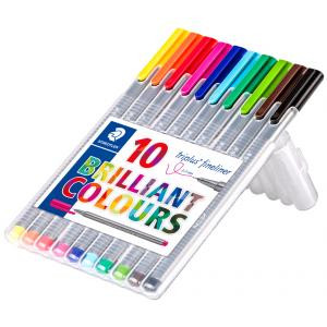 Triplus fineliner 10 Brilliant Colours
