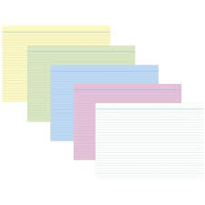 RNK Verlag Karteikarten - DIN A8, liniert, farbig sortiert, 100 Karten