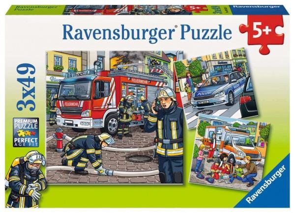 Helfer in der Not, Puzzle, 3 x 49 teile