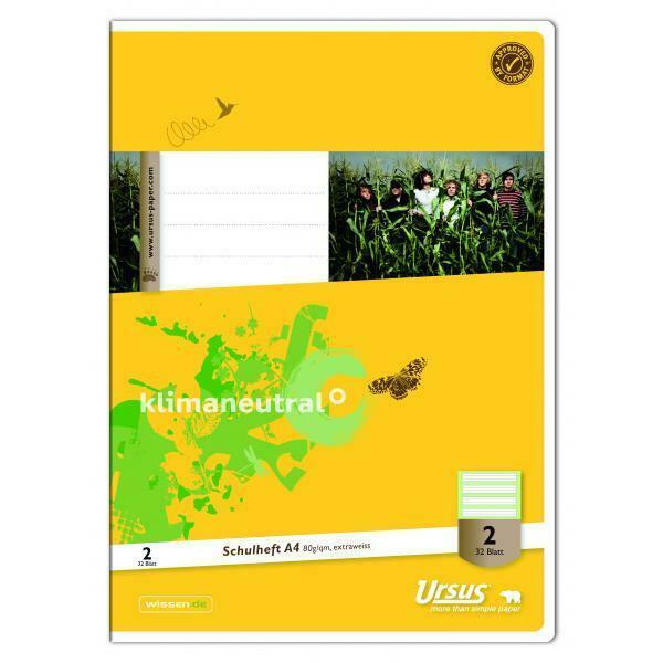 Ursus Schulheft Basic 2. Schuljahr A4 Lineatur 2 liniert weiß 32 Blatt