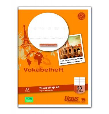 Vokabelheft A 6 LIN53 32 Blatt