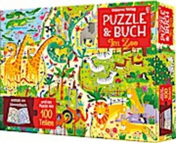 Im Zoo, Puzzle und Buch, 100 Teile
