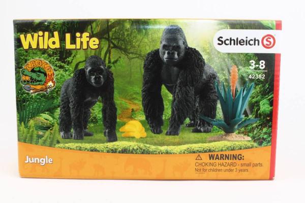 Gorillas auf Futtersuche