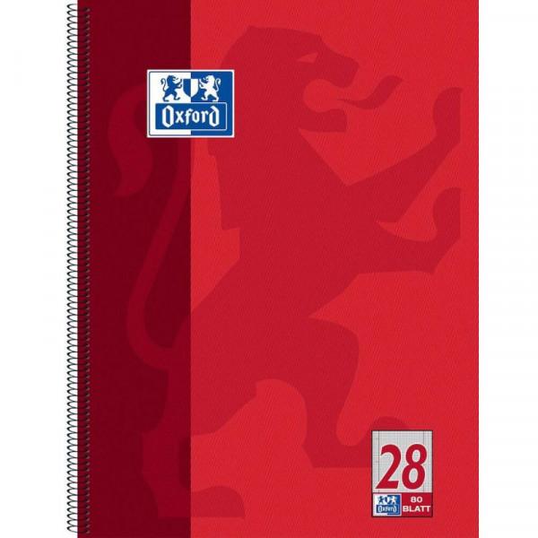 Oxford Collegeblock 100050361, A4+ kariert, 90g 80 Blatt, 4-fach-Lochung