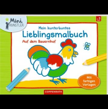 Mein kunterbuntes Lieblingsmalbuch: Auf dem Bauernhof (Mini-Künstler)