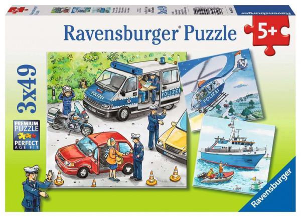 Polizeieinsatz, Puzzle, 3 x 49 Teile