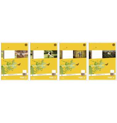 Ursus Schulheft Basic 3. Schuljahr A4 Lineatur 3 liniert weiß 32 Blatt