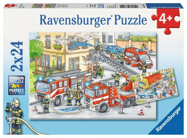 Helden im Einsatz, Puzzle 2 x 24 Teile