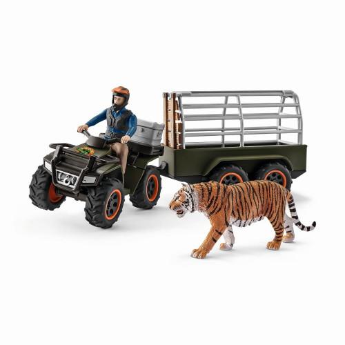 Quad mit Anhänger und Ranger