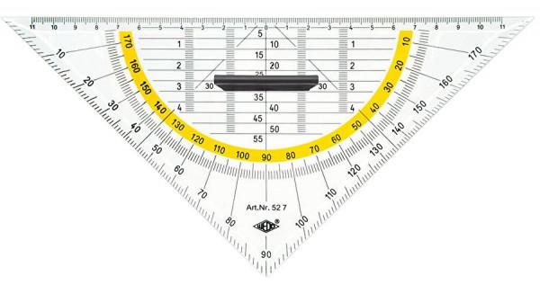 Geometrie-Dreieck mit Griff groß 250 mm