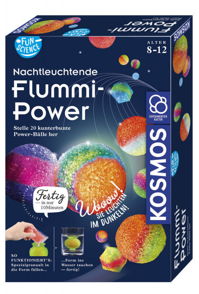 Nachtleuchtende Flummi-Power, Fun Science. Experimentierkasten
