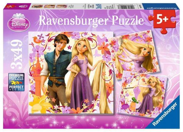 Disney - Rapunzel, Puzzle, 3 x 49 Teile