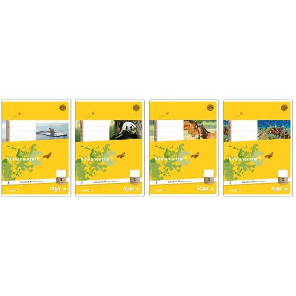 Ursus Schulheft Basic 3. Schuljahr A5 Lineatur 3 liniert weiß 32 Blatt