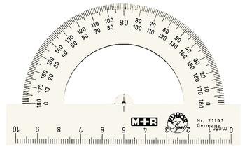 M+R Winkelmesser Halbkreis, von 0° bis 180°