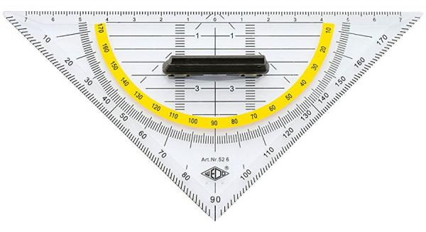 WEDO® Geometrie-Dreieck mit Griff, klein 160 mm