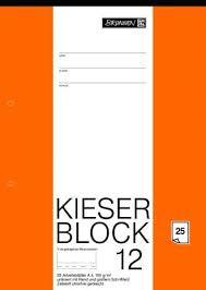 Kieser-Zeichenblock A4 25Blatt 150gr