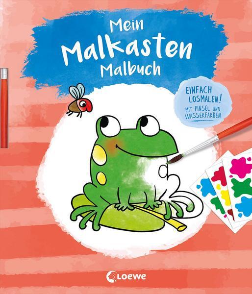 Mein Malkasten-Malbuch (Frosch) Einfach losmalen! Mit Pinsel und Wasserfarben