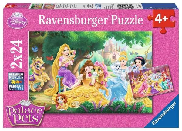 Disney - Beste Freunde der Prinzessin, Puzzle 2 x 24 Teile