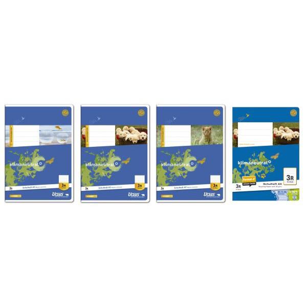 Ursus Schulheft Basic 3.Schuljahr A5 Lineatur 3 liniert mit Rand weiß 16 Blatt